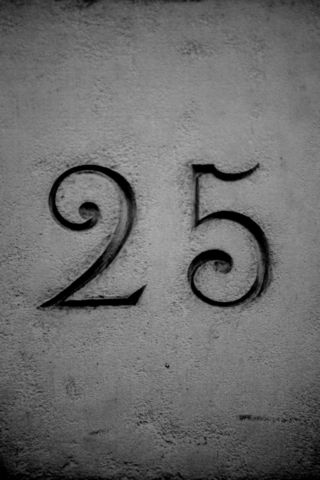 image of the number 25 for 25 years