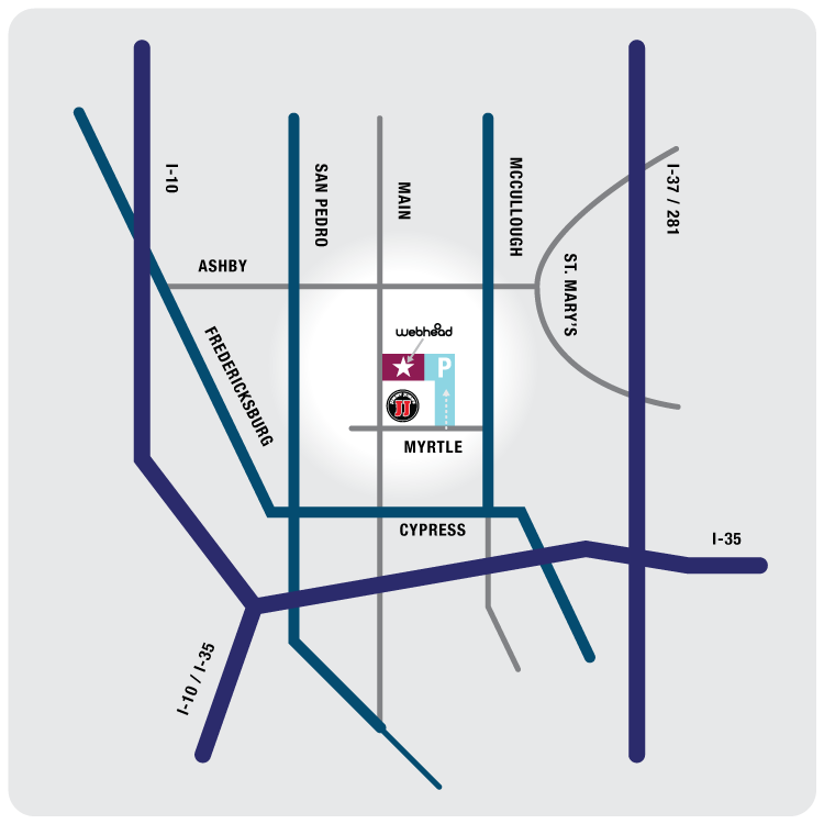 Location map of Webhead on Main Street